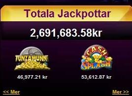 Totala jackpotar 2012-08 hos jackpotcity
