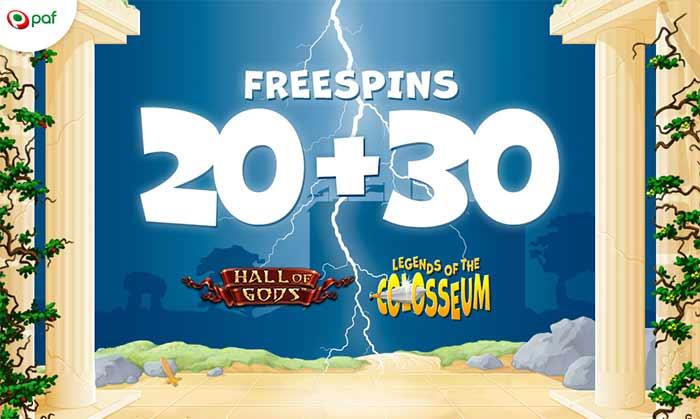 20+30 freespins paf